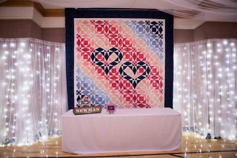 Daughter's wedding quilt.
