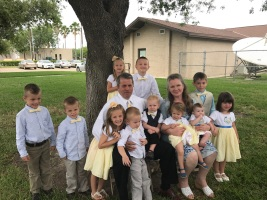 April - visit to Texas to see some of the grandkids. All the kids & grandkids make the trip. I made the granddaughters dresses for our son's wedding in March 2017 and ties for the grandsons.