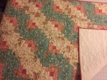 A very special baby quilt for a young friend that has had a rocky life and is back on track with a new husband & baby.