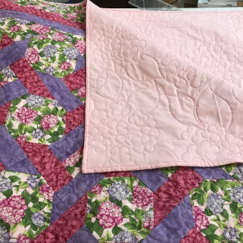 Refugee quilt - donated top from client