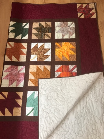 Refugee quilt - squares donated.