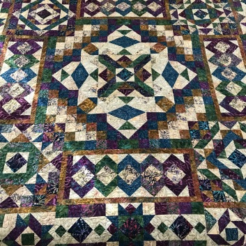 Wedding quilt for son - before quilting