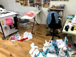 My studio when I too busy making things to clean